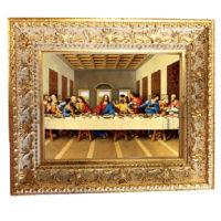 Tavoletta con cornice legno oro lavorata